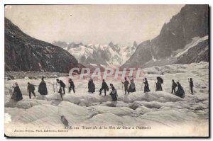 Postcard Old Traversee of the Mer de Glace in Chamonix