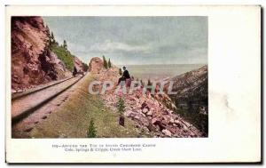 Old Postcard Around The Best of South Chevnne Canon Colo Springs Cripple Cree...
