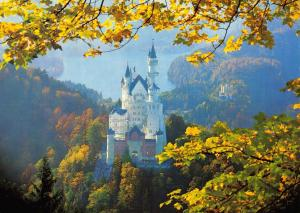 Stunning Giant Size Postcard Royal Castle Neuschwanstein, Germany OS64