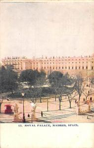 Spain Old Vintage Antique Post Card Royal Palace Madrid 1907