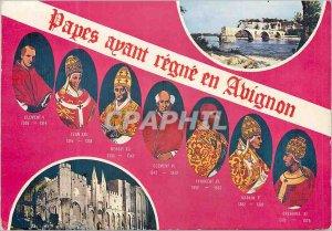 Postcard Modern Avignon Popes who reign in Avignon