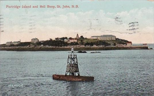 Canada St John Partridge Island and Bell Buoy 1911