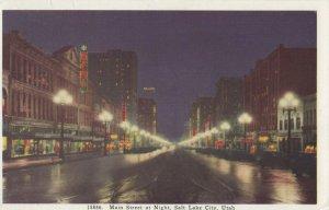 SALT LAKE CITY , Utah , 1910s ; Main Street at night