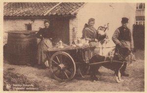 Dog Cart ; Laitiere flamande , Vlaamsche melkboerin , Belgium , 1920-30s