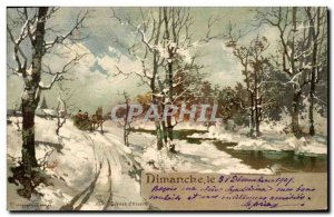 Old Postcard Fancy Month December