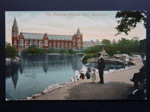 Tyne & Wear SUNDERLAND The Park & Victoria Hall c1907 Postcard by Valentine