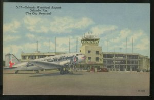 Orlando Municipal Airport Eastern Airlines Florida  Vintage Postcard