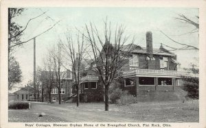 LPS39 FLAT ROCK Ohio Boys' Cottages Ebenezer Orphan Home Evang. Church Postcard