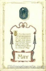 May Birth Stone Postcard Post Card  May