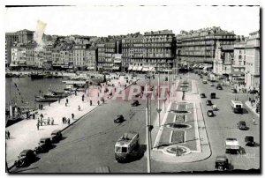 Old Postcard Marseille Bouches du Rhone the Quai des Belges and Rue de la Rep...