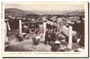 Old Postcard Royat Panoramic Royat and Clermont Ferrand