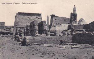 LUXOR, Egypt, 1900-1910s; The Temple Of Luxor, Pylon And Obelisk