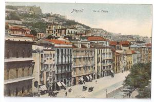 Napoli Via di Chiaia ca. 1908 Naples Italy UDB Paul Trabert