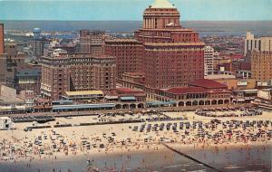 Atlantic City New Jersey~Chalfonte-Haddon Hall & Beach Bird's Eye View~1950s