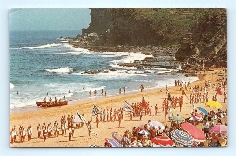 Postcard Australia Sydney Avalon Beach Pan Am Airways G17