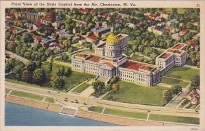 Front View Of The State Capitol From The Air Charleston West Virginia