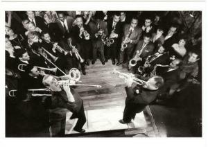 Paul Newman and Louis Armstrong in Paris Blues Movie Postcard #8