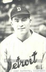 Fred Marberry Base Ball Postcard Detroit Tigers Baseball Postcard Post Card  ...