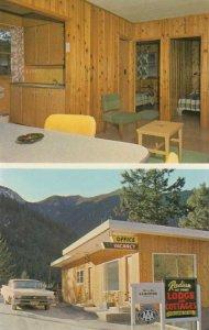 RADIUM HOT SPRINGS , B.C., 50-60s; Radium Hot Springs Lodge & Cottages, 2-views
