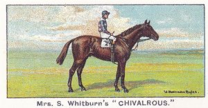 Chivalrous Winners On The Turf 1923 Chester Cup Horse Racing Cigarette Card