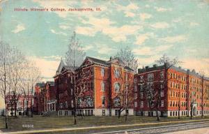 Jacksonville Illinois Womans College Scenic View Vintage Postcard J926434