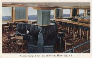 ATLANTIC CITY, New Jersey, PU-1950; The Senator, Cocktail Lounge & Bar
