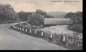 Vermont Woodstock lincoln Bridge Albertype