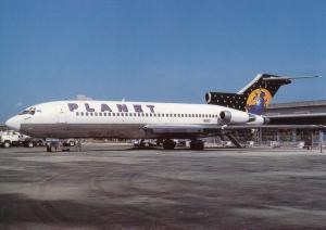 PLANET AIRWAYS, Boeing 727-23, unused Postcard