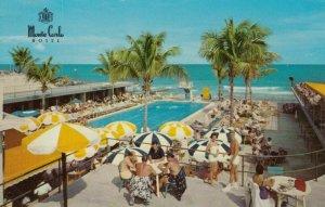MIAMI BEACH , Florida , 50-60s ; Monte Carlo Hotel, Swimming Pool, Ocean view