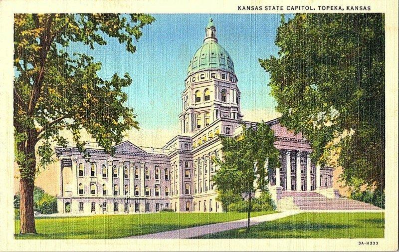 Kansas State Capitol Topeka Kansas Vintage Postcard Standard View Card