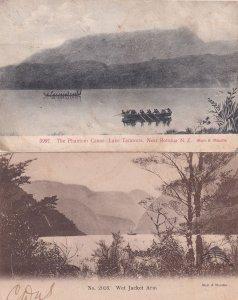 Wet Jacket Arm Lake Phantom Canoe 2x New Zealand Postcard s