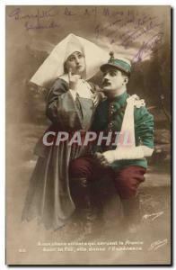 Postcard Old Army Soldier Health Nurse