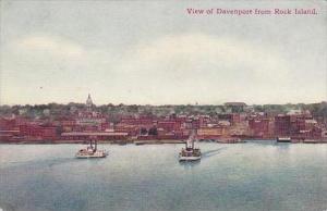 Illinois Davenport View Of Davenport From Rock Island