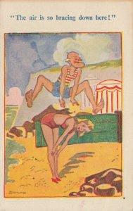 Comic Postcard Garland, Rudolf & Co. W101, Seaside Joke, Humour KK1