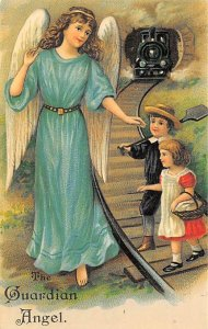 Angel Post Card, Angles Postcard Guardian Angel Reproduction Unused