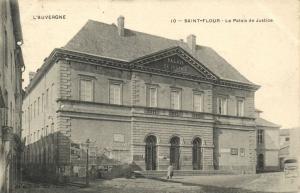 CPA Saint Flour Le Palais de Justice Cantal (101255)
