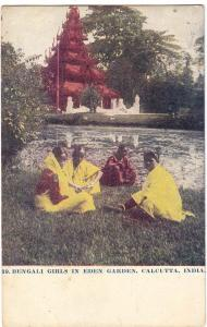 Bengali Girls in Eden Garden, India