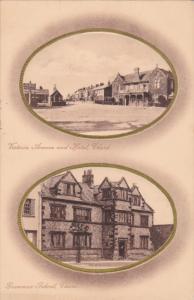 CHARD , Somerset , England , PU-1918 ; TUCK ; Grammer School & Victoria avenue