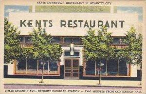 New Jersey Atlantic City Kents Restaurant 2124-28 Atlantic Avenue