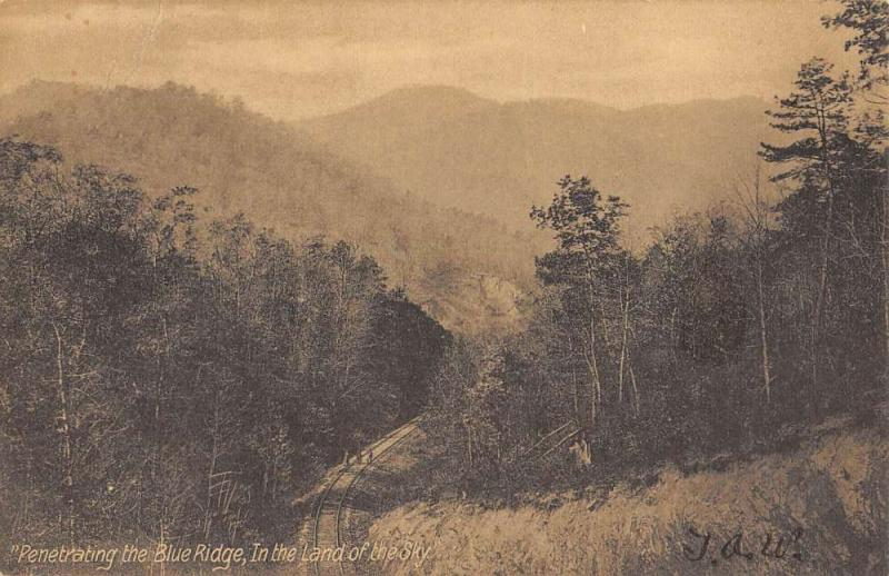 Blue Ridge North Carolina Scenic View Birdseye View Antique Postcard K58368