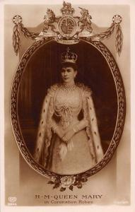 H.M. Queen Mary in Coronation Robes, Coat of Arms, Rose, Jewelleries, Royalty