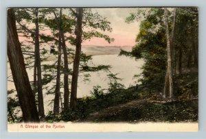 Raritan NJ-New Jersey, Scenic View, Vintage Postcard