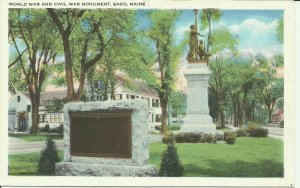 Saco, Maine, World War and Civil War Monument