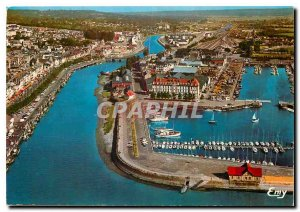 Modern Postcard Trouville Calvados General Aerial view Touques The Portde Pla...