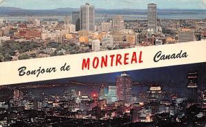 Canada Montreal Night view Panoramic view