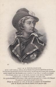 Henri de Rochejaquelein Antique Postcard