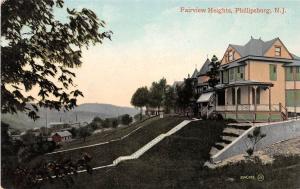 B33/ Phillipsburg New Jersey NJ Postcard c1910 Fairview Heights Home
