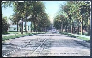 College Ave looking south Waterville Me 1910 Mason Bros & Co