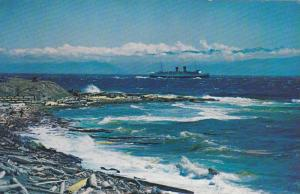 C.P.R. Steamer Arriving in a Rough Sea, Victoria, B.C., Canada,  40-60s