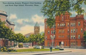 Armory - Women's Club - High School - Worcester MA, Massachusetts - Linen